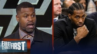 Stephen Jackson on why the Kawhi-less Spurs offer no resistance to Warriors | FIRST THINGS FIRST