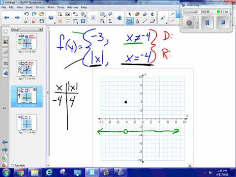 Graph a piecewise function, domain and range #12