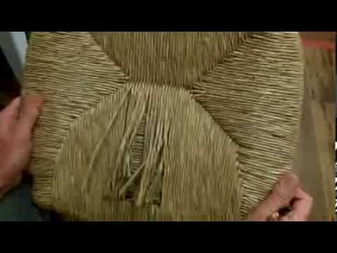 How to Weave A Rush Frame With Wrapped Corners, Round Corners & has a Special Weave