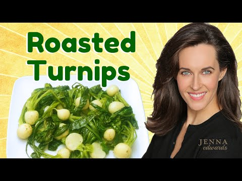 Recipe Demo: Roasted Turnips with Greens -How to Cook Turnips Recipe -Vegan