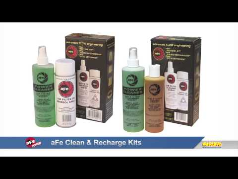 aFe air filter cleaning & recharging kits