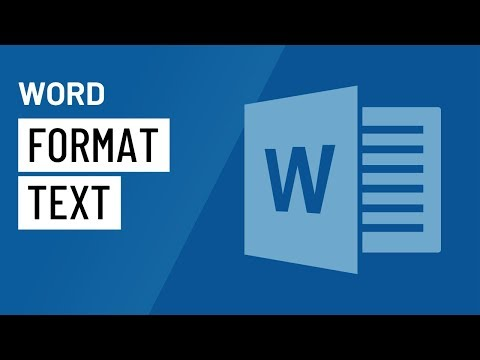 Word 2016: Formatting Text