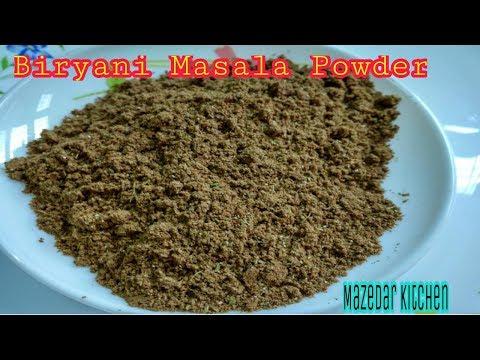 Biryani Masala Powder At Home Recipe In Hindi/Urdu By Mazedar Kitchen