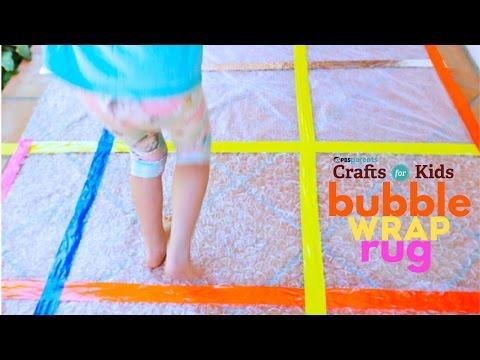 Bubble Wrap Rug | PBS Parents | Crafts for Kids