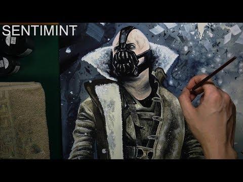 [Watercolor] Dark Knight Trilogy - Bane / 1 Hour