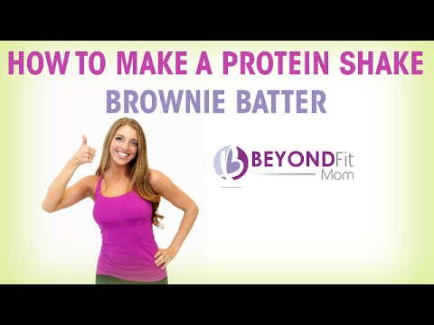 How to Make a Protein Shake. Brownie Batter.