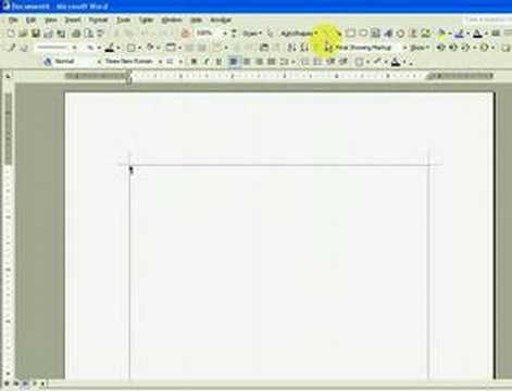 Simple Kitchen Design Using MS Word - Part 1