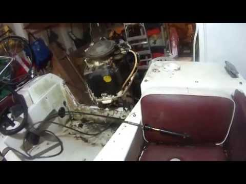Johnson outboard 90 hp - steering cable install