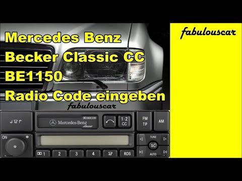Radio Code Entry Eingabe enter eingeben | Mercedes Benz Becker Radio Classic CC BE1150