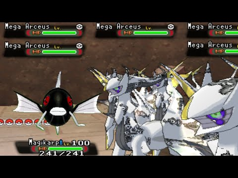 Shadow Mega Magikarp VS Horde of Mega Arceus - Pokemon Omega Ruby / Alpha Sapphire (Hack)