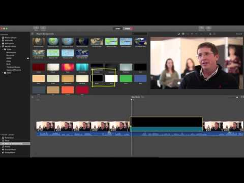 How to Split a Clip, Insert a Gap & Cover the Gap with B-Roll in iMovie 10