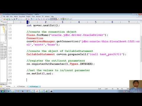 48 Advanced Java Tutorial |JDBC| Call pl sql procedure with INOUT param from Java Appl | adv java