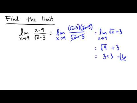 Using strategic algebra to find the value of a limit