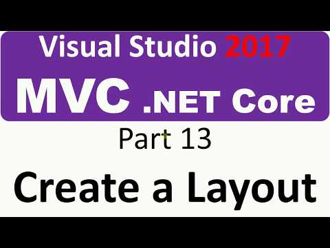 Visual Studio 2017 - MVC Core - Part 13 - Create a Layout with CSS