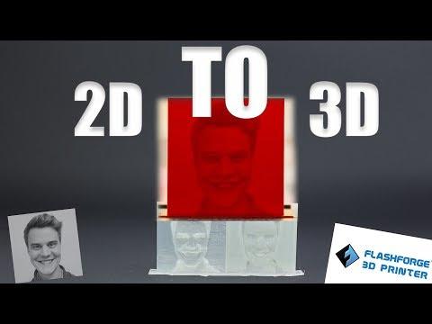 Making Lithophanes | 2D images to 3D printing models in Flashprint software