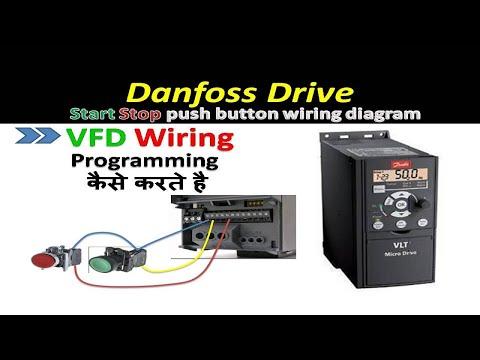 Download danfoss drive start stop using push button    vfd