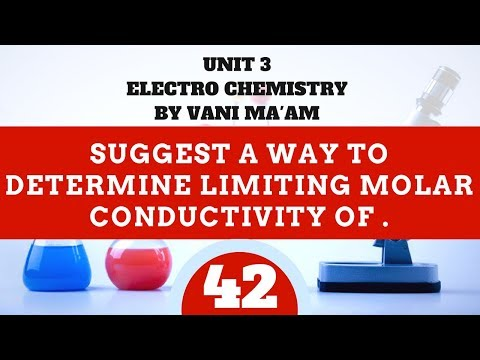 Suggest a way to determine limiting molar conductivity of . .| part 42| electro chemistry | CBSE