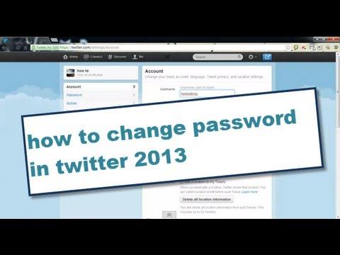 how to change password in twitter 2014 | how to change twitter password 2014