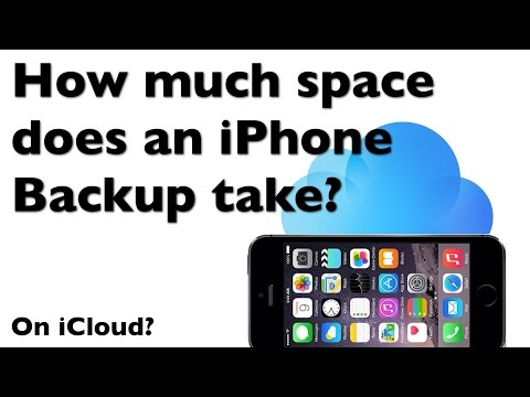 How much space does an iPhone backup take on iCloud?