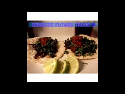 Hibiscus Flower Tacos - Tacos de Jamaica