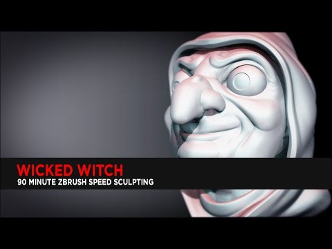 Wicked Witch : ZBrush Speed Sculpting
