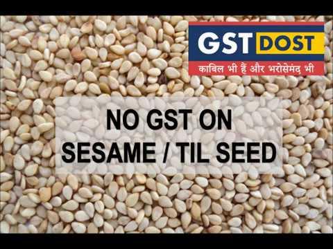 No GST on sesame / til seads