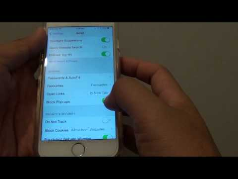 iPhone 6: How to Enable / Disable Block Popups in Safari