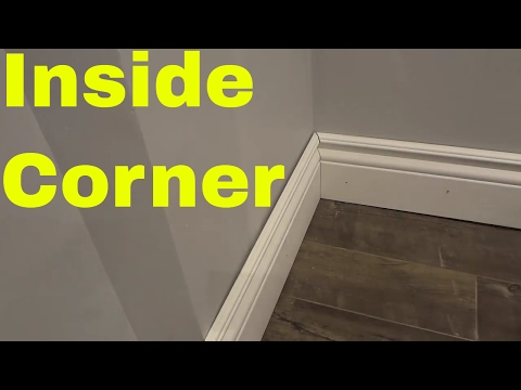 Installing An Inside Corner With Baseboard-Tutorial