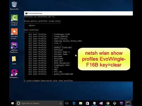 how to get  wifi password by using command prompt || how to get wifi password using cmd