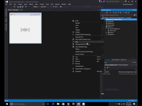 Visual studio open a new form with a button