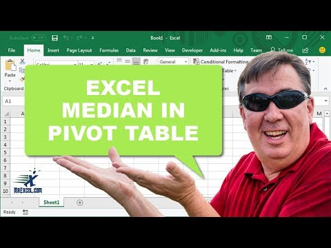 Learn Excel - Median in Pivot Table - Podcast 2197