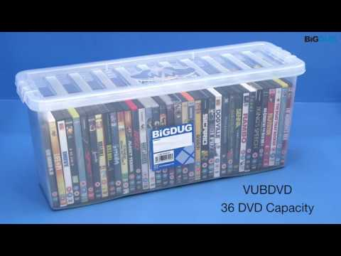 BiGDUG CD & DVD Wham Plastic Storage Boxes