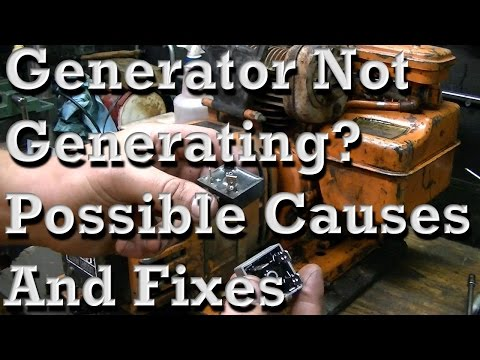 Possible Causes and Fixes of Generator Not Generating