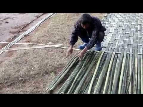 Bamboo mat weaving, Bumthang, Bhutan