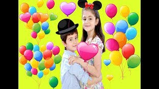 Learn Colors with Balloons for children toddlers and babies Funny Dance Educational Entertainment