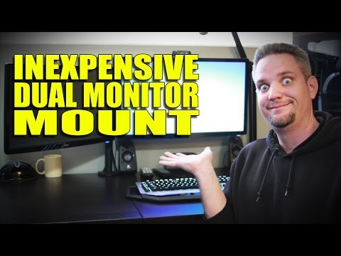 Monitor Mounting with the Rosewill Dual Arm Mount