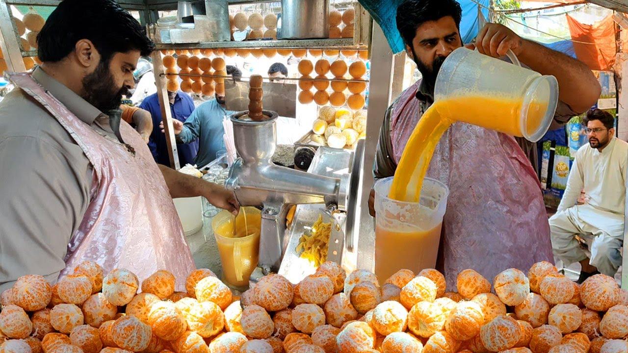 Refreshing Booster Orange Juice | Healthy Mosambi Sharbat at Pakistan Food Street. Sweet Lemon Juice
