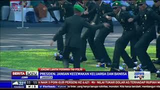 Selebrasi Perwira TNI-Polri Usai Dilantik Jokowi