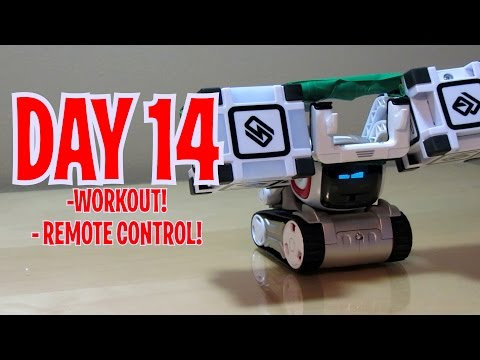 Cozmo - Day 14: WORKING OUT WITH CUBES + REMOTE CONTROL (Anki's New Robot Review!)