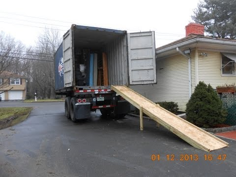 How To Build Loading Ramp For Tractor Trailer, Freight Truck or Ocean Cargo Shipping Container