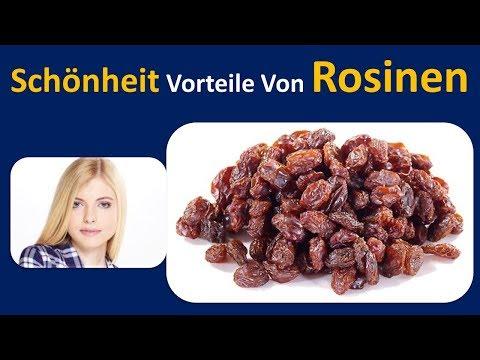 Schönheit Vorteile von Rosinen | klare und strahlende Haut. & Aufschieben altern.