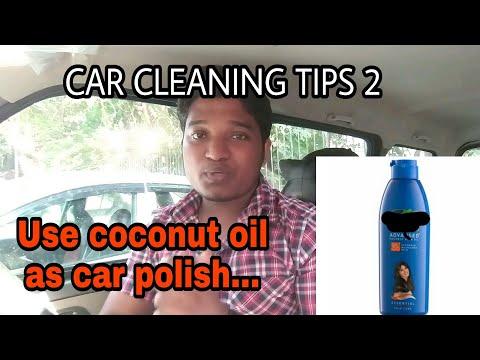 USE COCONUT OIL AS CAR POLISH|car cleaning tips 2