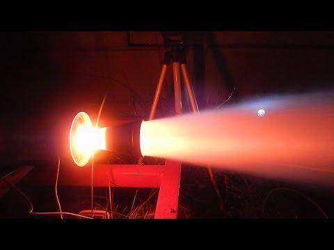 KNO3 Erythritol rocket engine test