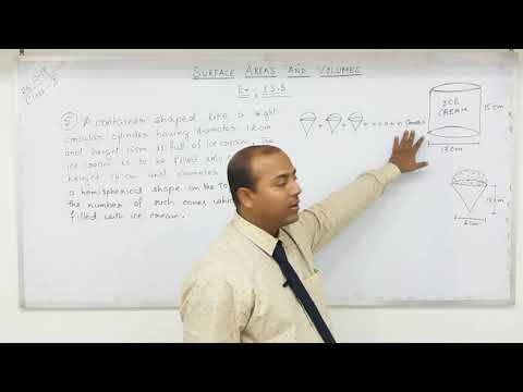 Class 10 Surface Areas and Volumes  (Part- 12)