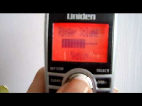 How to turn the ringer on and off Uniden cordless phone ringer volume