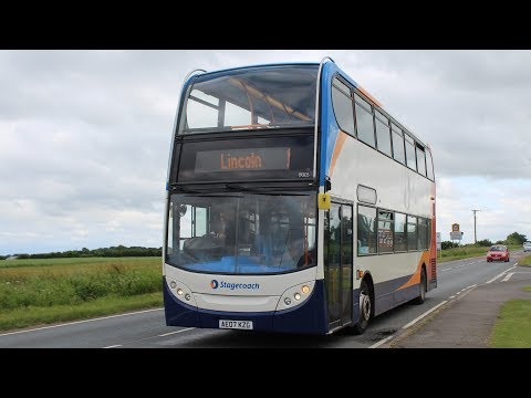 Stagecoach East Midlands   ADL Enviro 400/Dennis Trident 2   1 to Lincoln   19305 (AE07KZG)