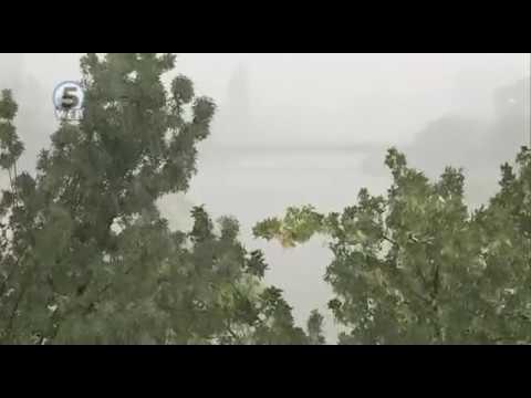 Скопје попладнево го зафати краткотрајно невреме со ветер, дожд и град