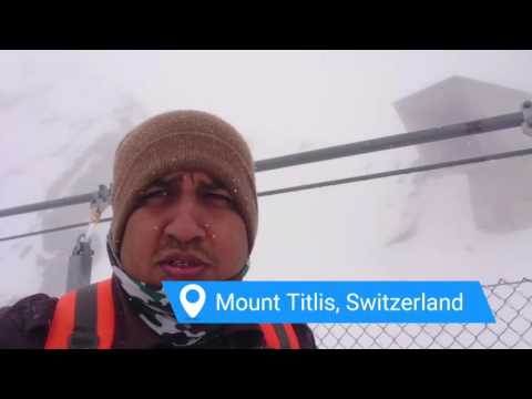 Snowfall and me at Mount Titlis, Switzerland