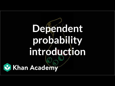 Dependent probability introduction | Probability and Statistics | Khan Academy