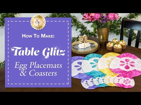 How to Make Easter Egg Placemats & Coasters | A Shabby Fabrics Sewing Tutorial